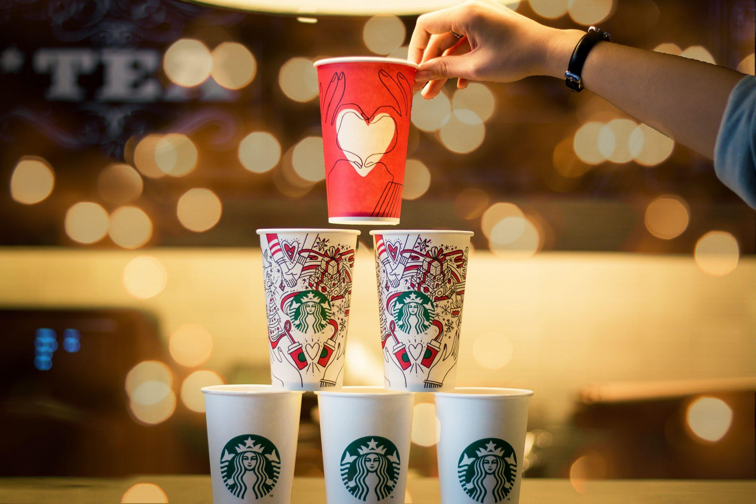 Becher von Starbucks