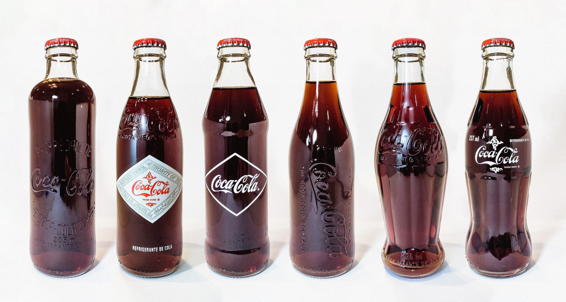 Die Evolution der Coca Cola Flaschen
