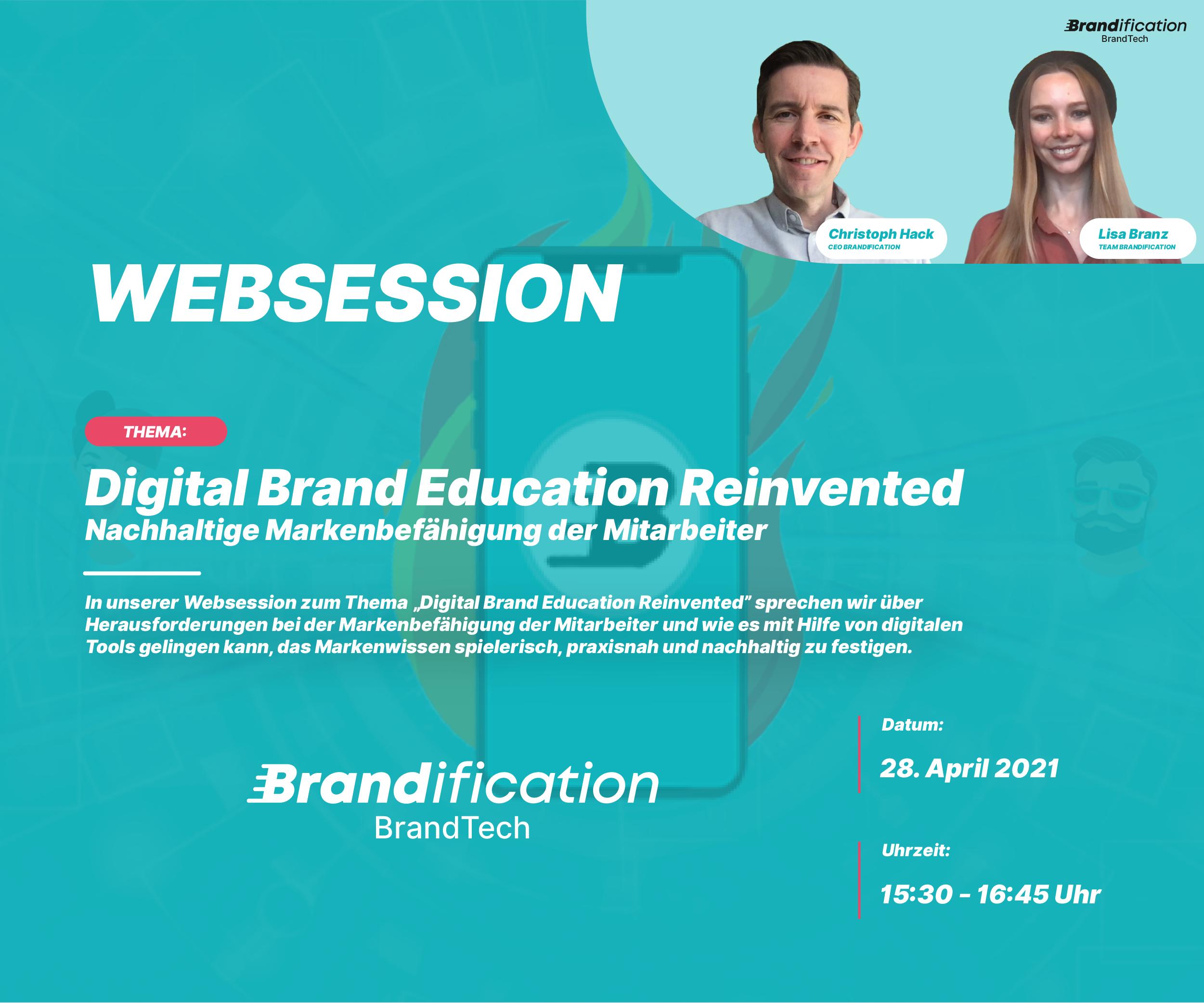 Websession zum Thema Digital Brand Education Reinvented