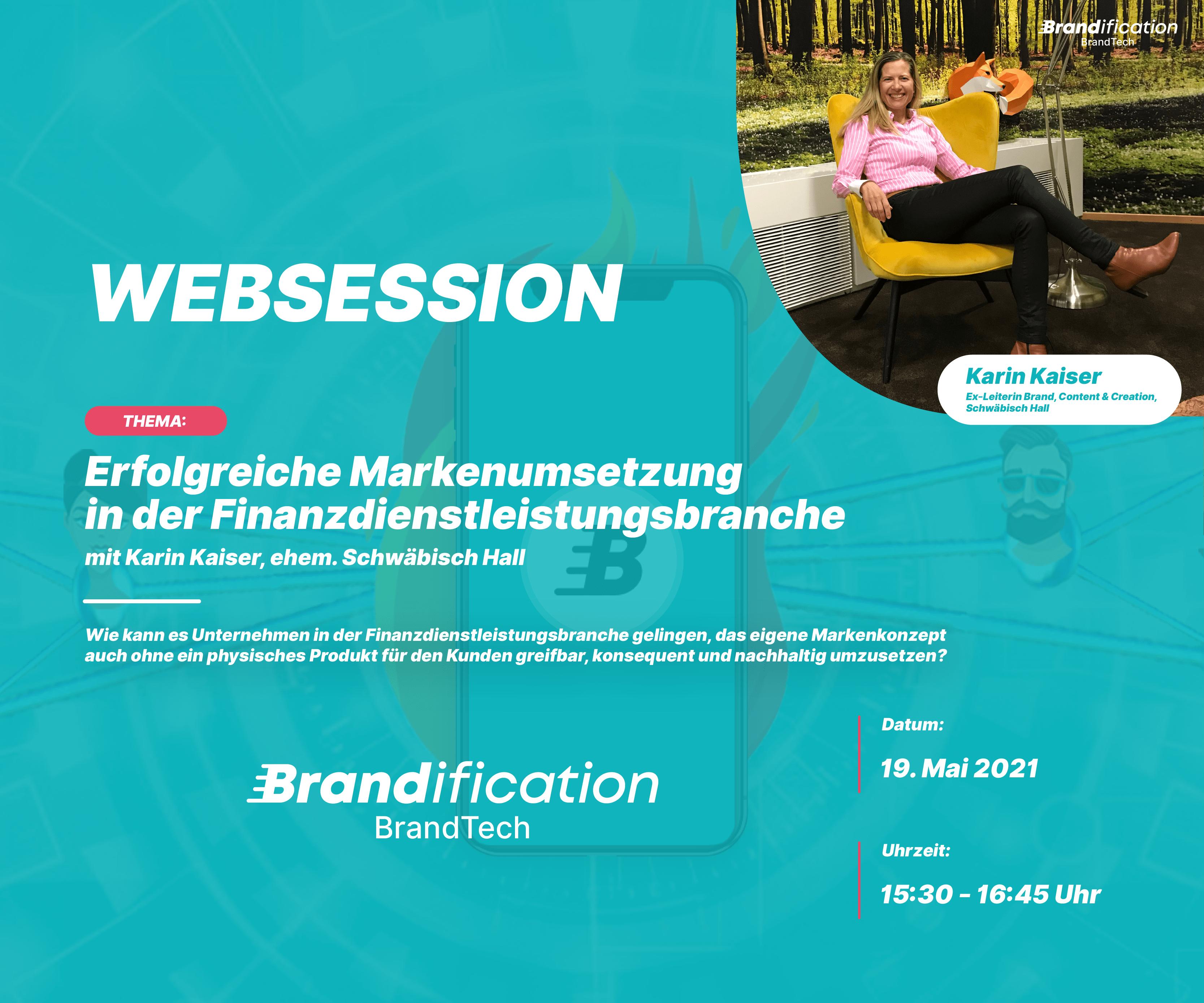 Brandification Websession mit Karin Kaiser