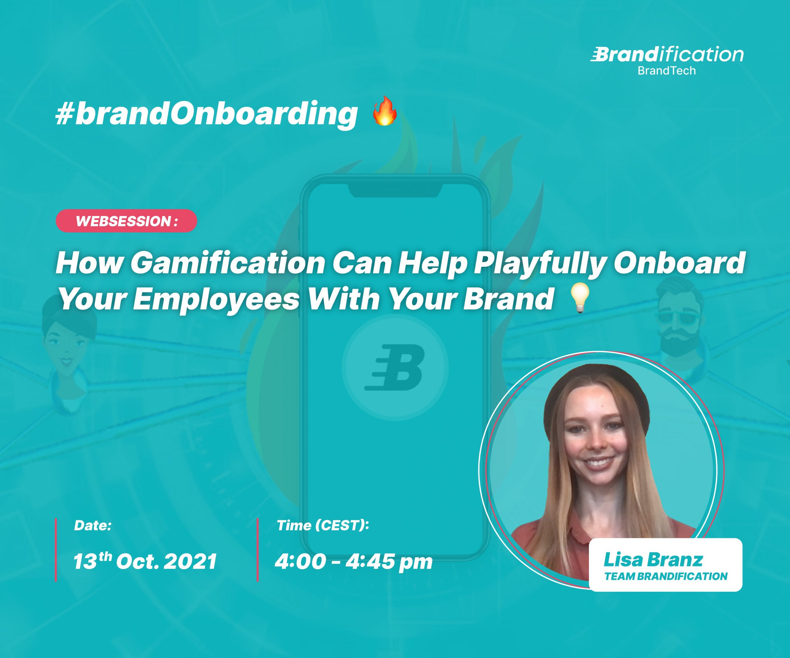 The banner for the Gamification webinar at 15.09.2021