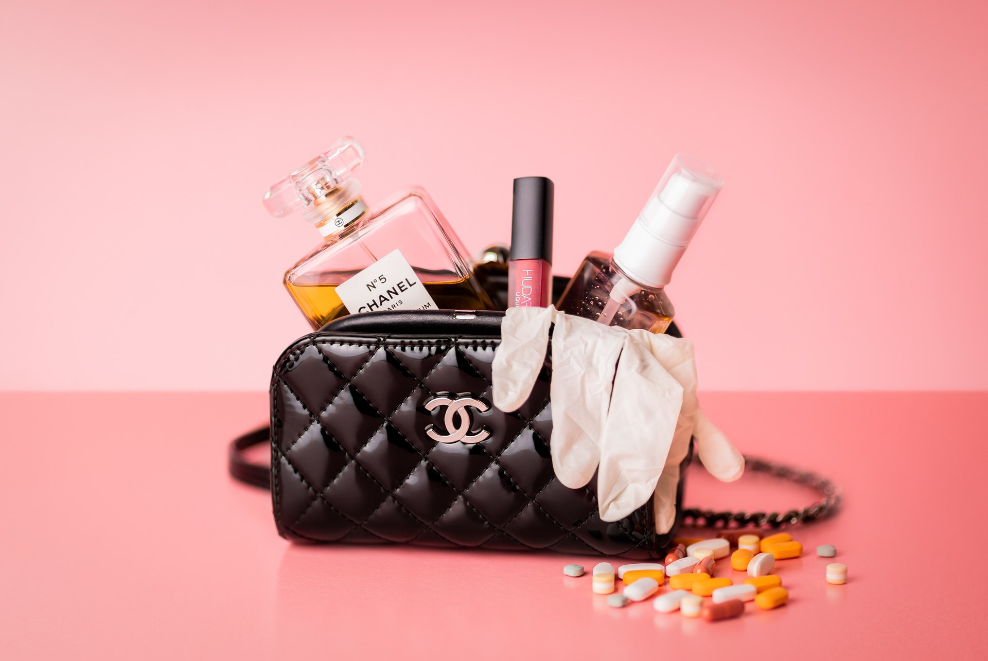 The classic CHANEL 2.55 flap bag